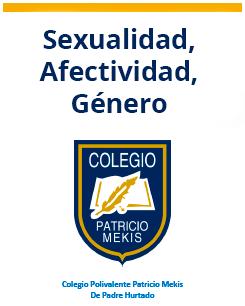 Sexualidad, Afectividad, Género
